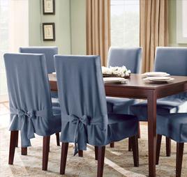 Чехлы на стулья. Пошив столового текстиля
