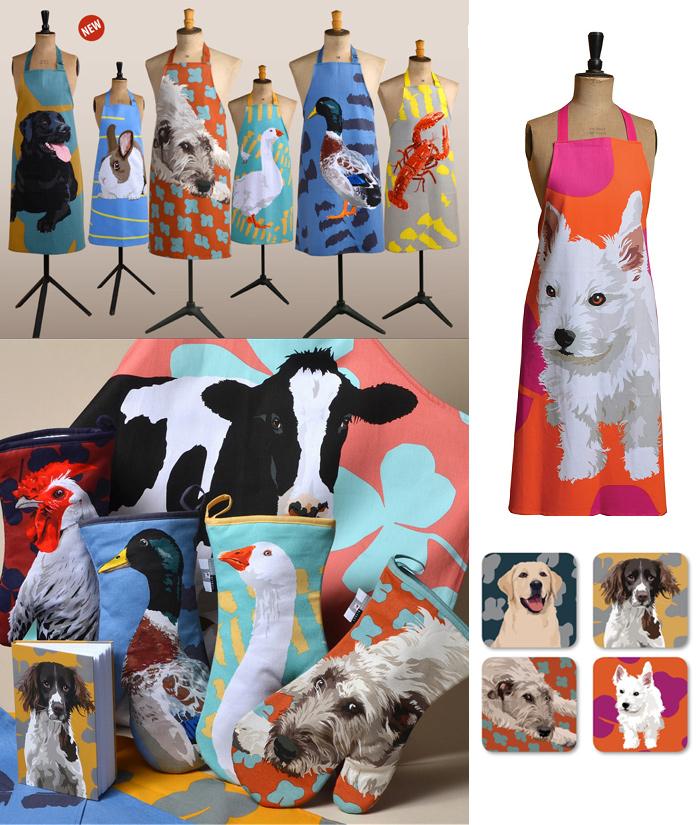 Текстиль с домашними животными от Leslie Gerry